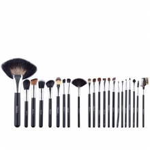 Set 22 Pensule Make-Up, Megaga, cu Husa Neagra