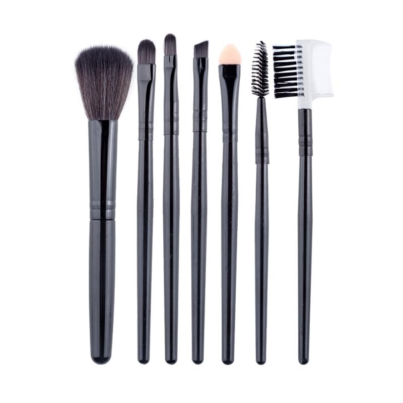 Pensule make-up din par natural Megaga set 7 bucati Maro