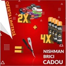 Pachet Promo NISH MAN-Ceara de Par 2 buc+4 Buc Sparay 3 in 1+Brici Cadou