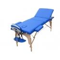 Pat masaj 3 sectiuni, structura din lemn - BEIGE