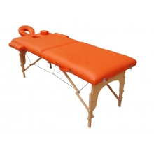 Pat masaj 2 sectiuni, structura din lemn - Portocaliu