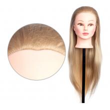 Cap Manechin cu Par Blond, 50% Natural 4A - 80 cm + Suport Prindere