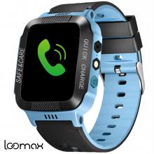 Ceas Smartwatch Albastru pentru Copii Loomax cu Diferite Functii