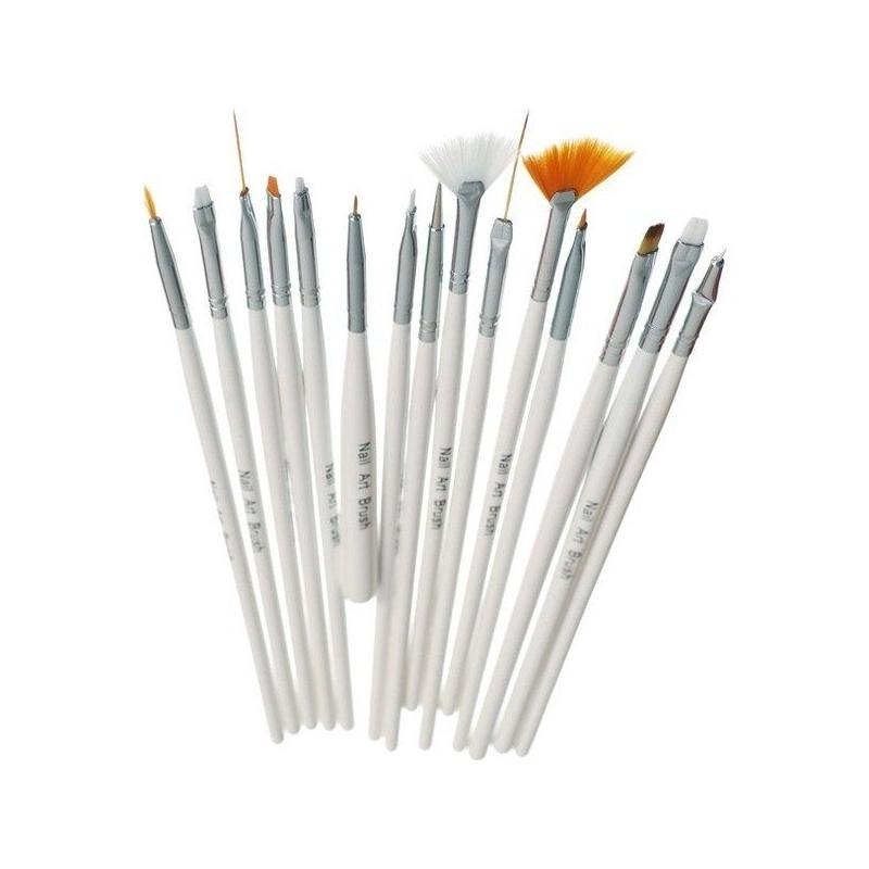 Set 15 Pensule Acryl si Gel UV