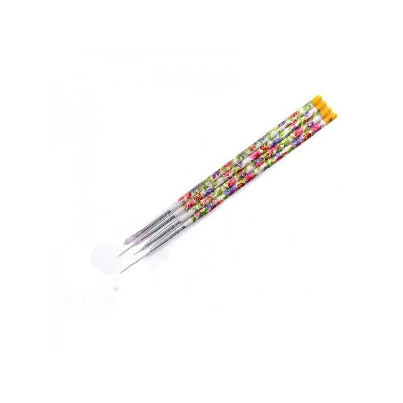 Set 4 Pensule motiv floral