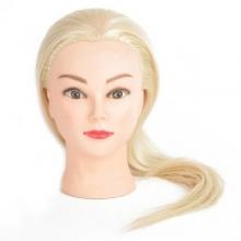 Cap Papusa Coafat Blond Sintetic, H1-1A, 45 cm + Suport Prindere