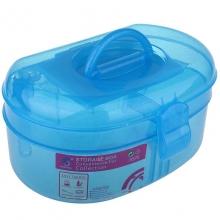 Geanta cosmetice din plastic cu oglinda Albastru