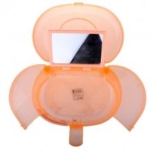 Geanta cosmetice din plastic cu oglinda Portocaliu