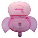 Geanta cosmetice din plastic cu oglinda Roz