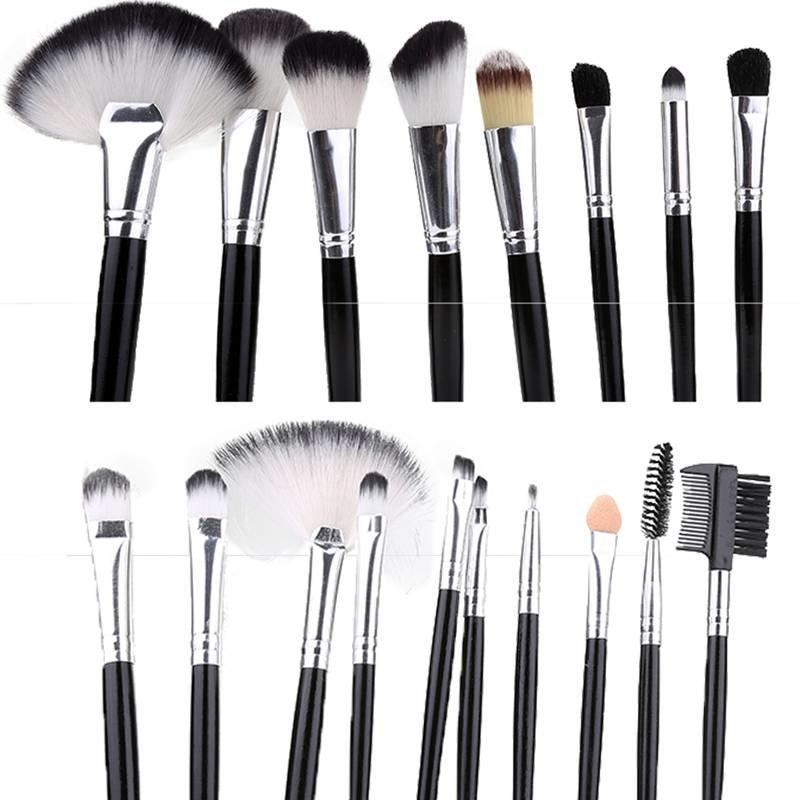 Pensule make-up set 18 bucati Negru PMU18HT