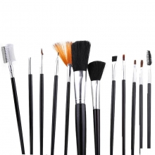 Pensule make-up set 12 Alb/Negru PMU12C