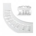 Tipsuri Unghii Mozaic - 100 Buc