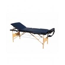Pat masaj 3 sectiuni, structura din lemn - NEGRU