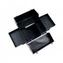 Geanta Cosmetice Medie Neagra cu Cristale