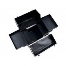 Geanta Cosmetice Medie Neagra cu Cristale 6281C-BL
