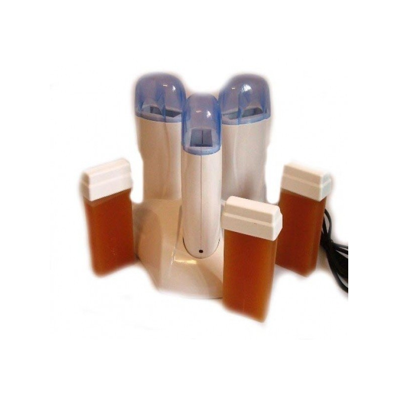 Kit Epilare cu incalzitor triplu si 3 rezerve de ceara